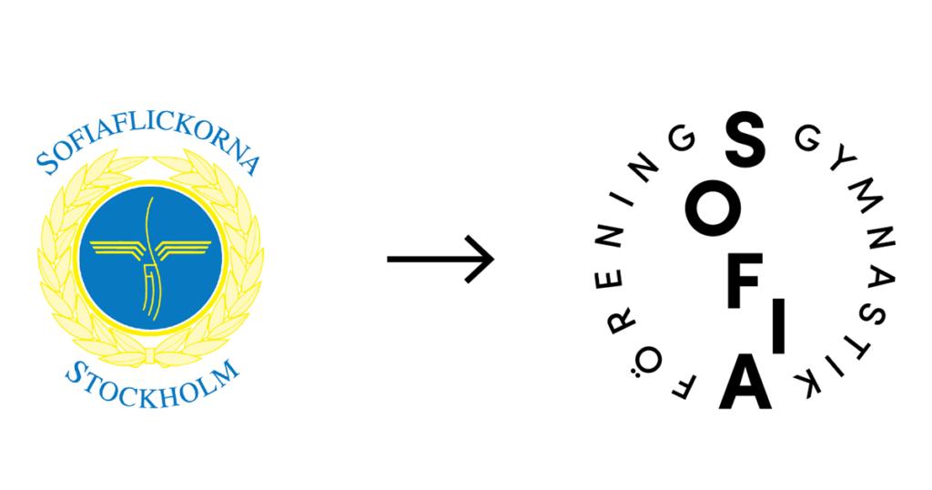 Ny och gammal logotyp